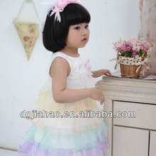 2013 Rainbow color spanish party dresses for fat girls