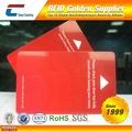 POPULAR! Reescribible RFID Tarjeta llave hotel ISO9001 Verificada (Top 10 Glabal RFID Emprendedores-Red)