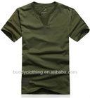 Men's fashion deep v neck t shirts for men