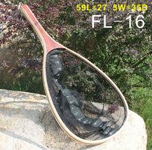 Wooden Frame Nylon Net with Bottome Ruler Fishing Landing Net