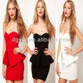 nouvelle mode des robes de bal sexy bustier courte brillant de couleur pure bodycon 2013 robes de bal