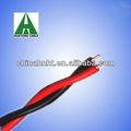 Câble noir à paire entortillé/ cuivre solide rouge
