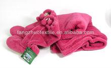 gift set micro plush coral fleece blanket