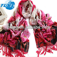 Fashion And Hagh Qualiry Long Women Silk Scarves/ Promotion Women Thick Thermo Shawls