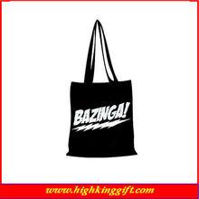 High quality cotton canvas ball shopping bag
