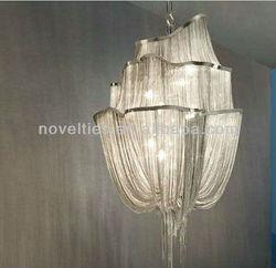 High Quality Modern Silver Chain Chandelier Lighting