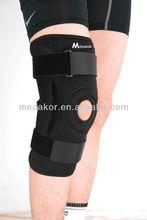black neoprene hinged knee brace