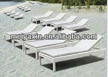 outdoor rattan sun lounger/beach lounge chair