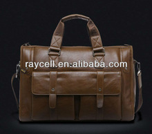 Europe style 2013 hotsale leather travel business handbags for laptop 15'' with wholesale factory price China