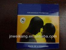 flavored plain condom in custom printed package