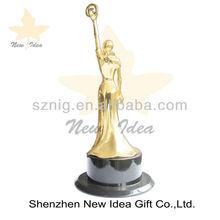 2014 Metal trophy sculpture,custom trophy metal,award metal trophy souvenir