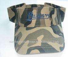 custom sun visor cap camo design