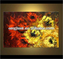hand painted impressionist flower oil painting