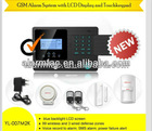 China product ! best listening devices! gsm wireless LCD burglar security alarm home system with CE Rohs FCC certificate