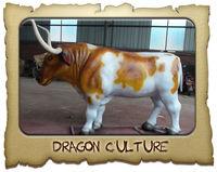 2013 Newest best quality fiberglass life size bull statues for sale