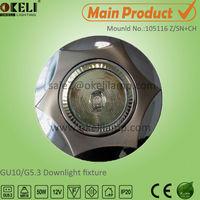 Zamac material round MR16 downlight GU10 lampholder max 50w ,105116Z/SN+CH