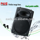 15 inch Factory direct selling high power outdoor stage professional powered speakers waterproof with USB/SD/MMC/FM/MP3 player