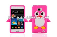 Animal Shape Case For Samsung Galaxy S2 i9100 Cute Penguin Silicone Case Cover