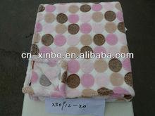 2013 coral fleece blanket circle color dot printed