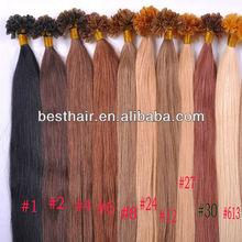 2013 wholesale cheap keratin hair u tip hair extensions alibaba hot sell production