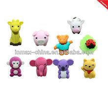 2013 hot selling animal shape fan eraser for kids