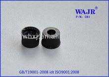 black open polypropylene cap