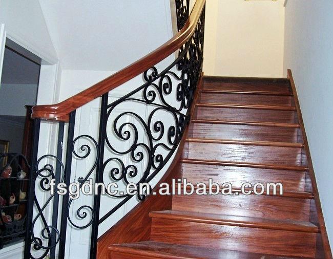 De mayor venta de interior moderno de hierro forjado - Pasamanos de hierro forjado para escaleras ...