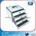 herramienta de aluminio caja de almacenamiento con cajones