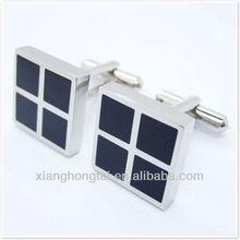 Plain cufflinks jewelry, titanium cufflinks with black epoxy