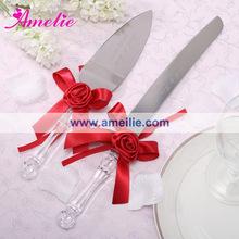 Acrylic Steel Wedding Cake knife Serving Set