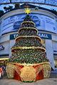 مركز تسوق مهرجان 2013 تصميم الزجاج الصلب برج نوع شجرة عيد الميلاد