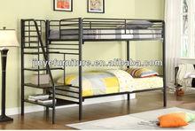 metal steel double decker bunk bed frame