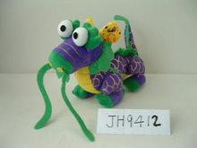 beautiful promotional customized soft stuffed plush dragon animal toy with big eyes,beard,horns