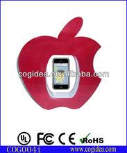 Apple shape levitating dummy phone display for advertisement or desk decoration