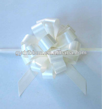 White Pom-Pom Pull Ribbon Bow for Christmas/Party/Gift Decoration,on every possible occassion