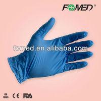 Medical pink nitrile gloves for hospital usage