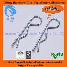 zinc plateado de onda alfileres de hardware