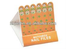 Wooden Mini Matchbox matchbook Nail Files