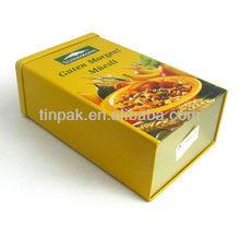 popular square wholesale dry fruit tin box