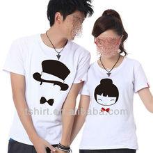 Custom fashion personalized couple t shirt