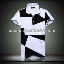 13TS5115 mens' fashional patterned polo tshirt sports tshirt