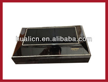 fancy shape black piano lacquer finish wooden chocolate box with strass lid