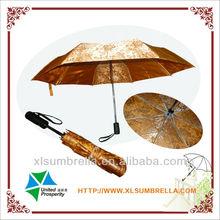 Auto open and closed free foldable umbrella satin material