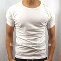 Camisetas de algodón blanca vacío barata para hombres