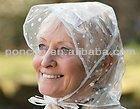 plastic European fashion rain hood/rain bonnet TX-2005