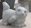 La petite chat en pierre / gravure des animaux de pierre / sculpture de petit animal de granit