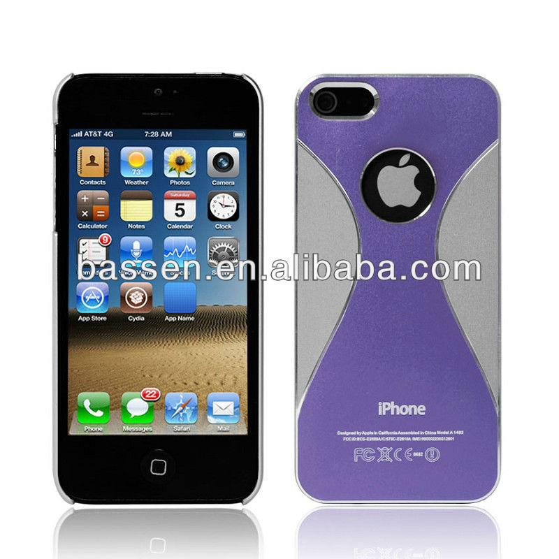 2013 aluminum slim waist phone cover for iphone 5