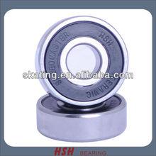 608 8mm single rubber seal nylon hybrid ceramic black ball Si3N4 skateboard bearing