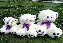 Hight quality and lovely 50cm big purple plush bear soft stuff plush bear DO47308114B