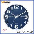 el diseño del reloj colgando de la pared de plástico reloj de pared reloj de la batería operada